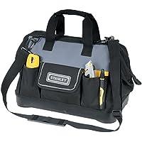 STANLEY 1-96-183 - Bolsa para herramientas de gran abertura con cremallera, 44.7 x 27.5 x 23.5 cm, base reforzada