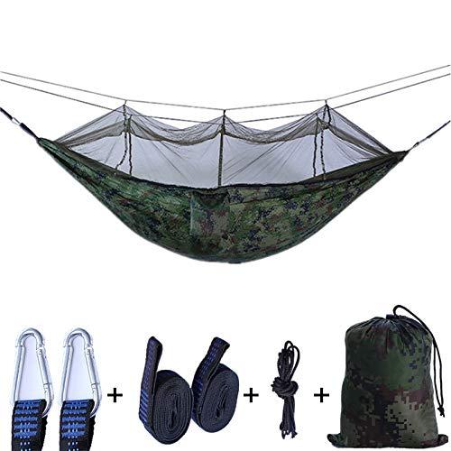 shutian Outdoor Moskitonetz Hängematte 210T Nisi Spinning Ultraleicht Fallschirm Tuch Camping Luftzelt, 260 * 140cm dunkelgrünes Obst grün, weiße Masche -