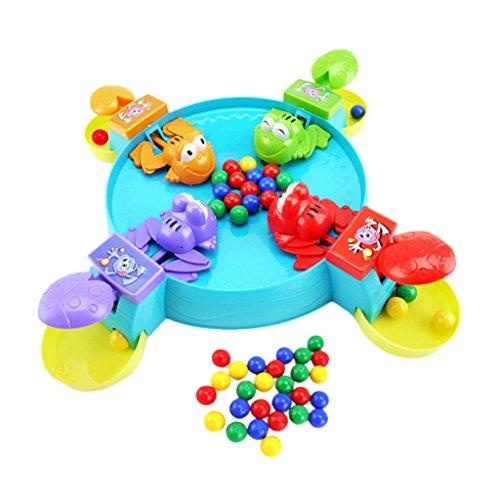 Bambini Che Alimentano Piccola Rana Gioco Da Tavolo Di Raccolta Palle Giocano Divertimento Dono Giocattolo Set