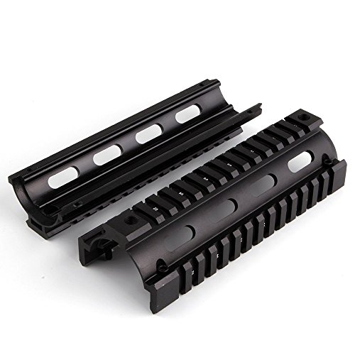Zweiteiliges Design Aluminium 17,8cm freischwingend Quad Rail Handschutz Picatinny Schiene 20mm (Rail Quad Ar)