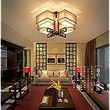 Simple y moderna lámpara de araña de hierro forjado,bronce,media luz cálida