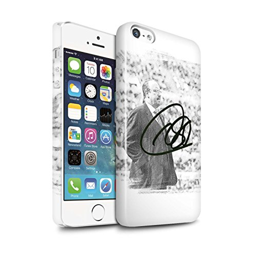 Offiziell Newcastle United FC Hülle / Glanz Snap-On Case für Apple iPhone SE / Pack 8pcs Muster / NUFC Rafa Benítez Kollektion Autogramm