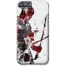 "iPhone 6/6s Deadpool Arte de Fan Estuche de Silicona / Cubierta de Gel para Apple iPhone 6S 6 (4.7"") / Protector de Pantalla y Paño / iCHOOSE / Espadas"
