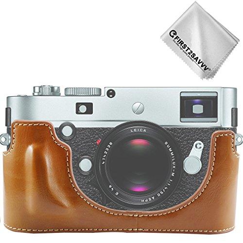 First2savvv braun Gehäusehälfte präzise Passform PU-Leder Kameratasche Fall Tasche Cover für Leica M-P TYP 240 - XJPT-Leica M-P -D09G11
