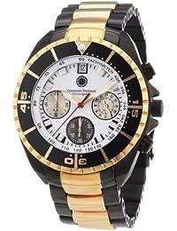 Constantin Durmont Herren-Armbanduhr XL Seawolf Chronograph Quarz Edelstahl beschichtet CD-SEAW-QZ-RGIP-RGIP-WH