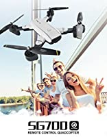 Hela international SG700 FPV Quadcopter Foldable WIFI RC Drone with 1080P Camera 2.4G 4CH 6-Axis Gyro Image Following V Gesture Selfie