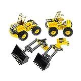 Bausteine gebraucht 1 x Lego System 2er Set für Modell 7630 Baufahrzeug gelb Frontlader Incomplete unvollständig