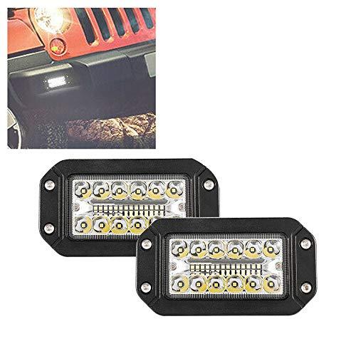 SODIAL Fari da Auto Un 2 LED 12V da 6 Pollici con Montaggio Un Filo da Lavoro Un 26 LED Super Luminos