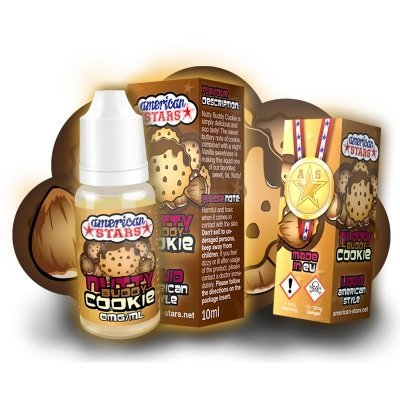 American Stars E-Liquid Butterkeks-Nuss-Vanille-Cookie, 10ml