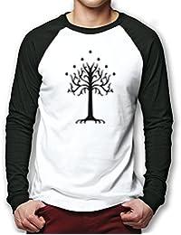 HotScamp Premium White Tree Of Gondor Men Baseball Top Many Sizes