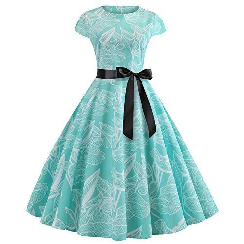 07142d9da535 beautyjourney Vestido de Mujer Estilo años 50 Vintage Rockabilly Vestido de.