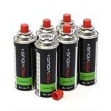 Pack de 6 cartouche gaz 230g butane mix - bouteille de gaz à baillonnette 410 ml - bonbonne pour réchauds camping