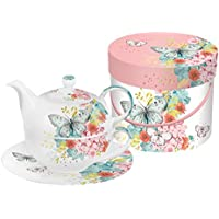 Decorated Porcelain Motif:I Love Music Matching Box 2 Cup Cappuccino Cups with Handle Set Gift PPD 603061