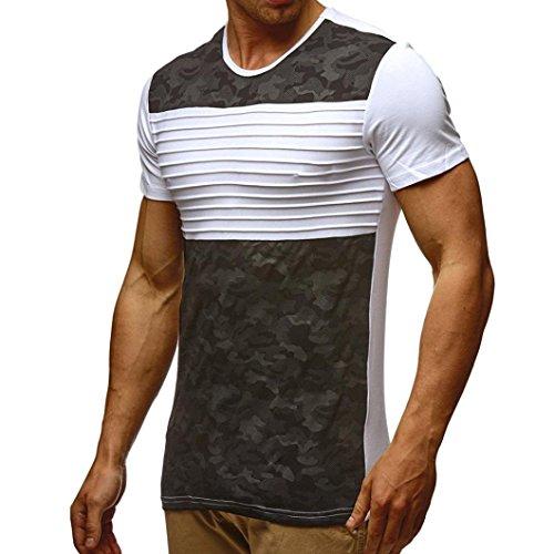 Styledresser-Maglietta-Uomo-Camouflage-Sottile-2018-T-Shirt-Sportive-da-Uomo-Camicie-e-Magliette-da-Uomo-Camicie-Girocollo-Collare-Tops-A-Manica-Corta-Tees