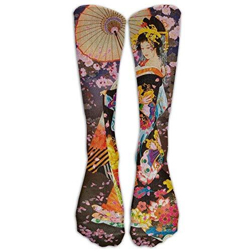 AHENANY Japanese Retro Woman Compression Socks Soccer Socks High Socks Long Socks For Running,Medical,Athletic,Edema,Diabetic,Varicose Veins,Travel,Pregnancy,Shin Splints,Nursing.