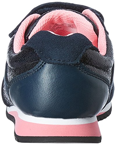 Clarks SuperGleam Inf Girl's Trainers in Navy Combi and Silver Metallic Bleu - bleu