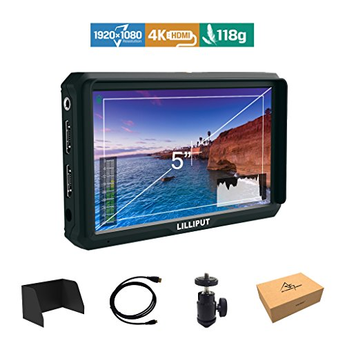 Lilliput A5 5 Zoll 1920x1080 HD 441ppi IPS Kamera Feld Monitor 4K HDMI Input output Video DSLR feldmonitor für Canon Nikon Sony A7 A7R A7S III A9 DSLR Zhiyun Crane 2 M TILTA G2X DJI Ronin-S