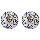 #9: Amber Shine Ceramic Door Knobs Handpainted & Decorative/ Door Handles/ Cabinet/ Drawer / Door Pulls/ Cabinet Pulls/ Drawer Pulls (Set of 2)