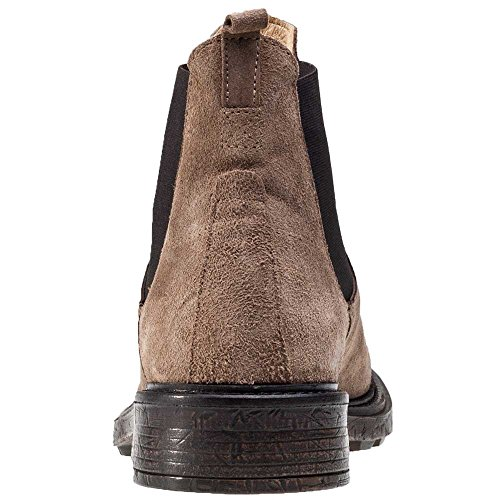 H by Hudson Denne Hommes Bottes Chelsea Tabaco