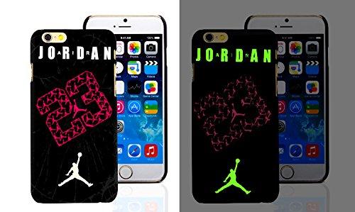 RONNEY'S Air Jordan Luminous PC BLACK Hard Case for Apple Iphone 6+/6+S DESIGN 7 Design 11