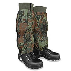 Mil-tec Waterproof Trouser Leg Gaiters Flecktarn Camouflage Army Style Airsoft