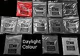 Ultra brilla en la oscuridad fluorescente UV Polvo 20g–utilizado para brillo estante o resina joyas, Rojo, 20 g