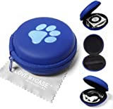 LOVE MY CASE / Two-Tone BLUE PAW PRINT MP3 Player Case, cover, shell - Clamshell Style with Zip Enclosure For Apple iPod Shuffle 2nd / 3rd / 4th Generation / with Love my Case Cleaning cloth