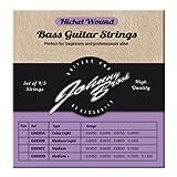Johnny Brook - Lot de 5 Cordes de Guitare Basse Haute Qualité en Nickel (Calibre Médium)