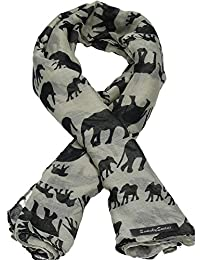Ellie Black Elephant Scarf in Biege