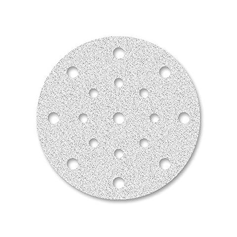 50 Disques abrasifs auto-agrippants MioTools pour ponceuse excentrique - Ø 150 mm - grain 400 - 17 trous