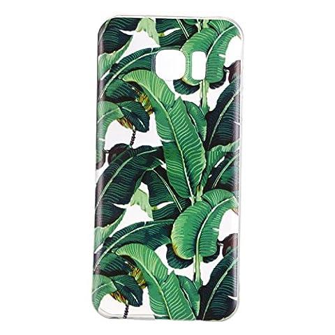 Pour Samsung Galaxy S7 edge Case Cover, Ecoway plantain shell téléphone TPU en silicone souple en relief personnalité silicone Housse de Housse pour téléphone portable pour Samsung Galaxy S7 edge -
