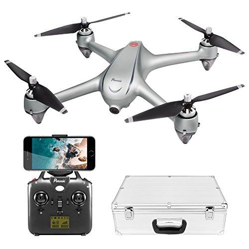 Potensic GPS WiFi Drone sin Escobillas con 1080P Cámara HD, D80 FPV Avión Radiocontrol con 110º Gran Angular, Control Remoto, Quadcopter RTF Altitude Hold, Modo Sin Cabeza, Retorno a Casa