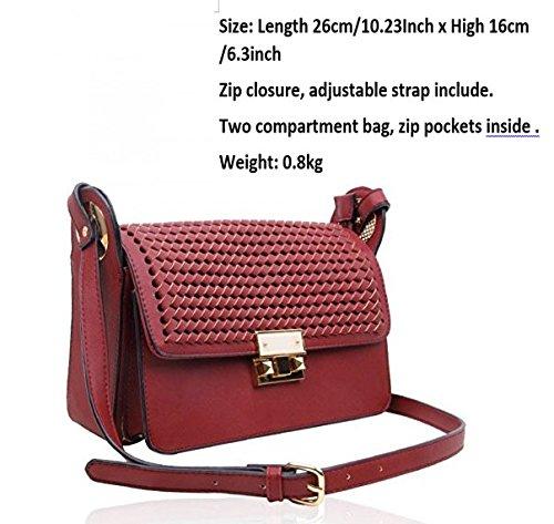 LeahWard® Damen KleinKreuzbeutel Damen Berühmtheit Stil Bote-Tasche Schulter Handtaschen 160132 Oxford blau