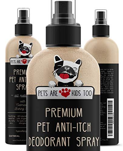 Pets Are Kids Too Haustier Anti-Juckreiz Deo-Spray & Dufterfrischer - Ganz natürlich & hypoallergen (1 Flasche) -
