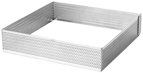 Lacor 68570-stampo anello tabella perforato, dimensioni: 20 x 20 x 3, 5 cm, colore: grigio