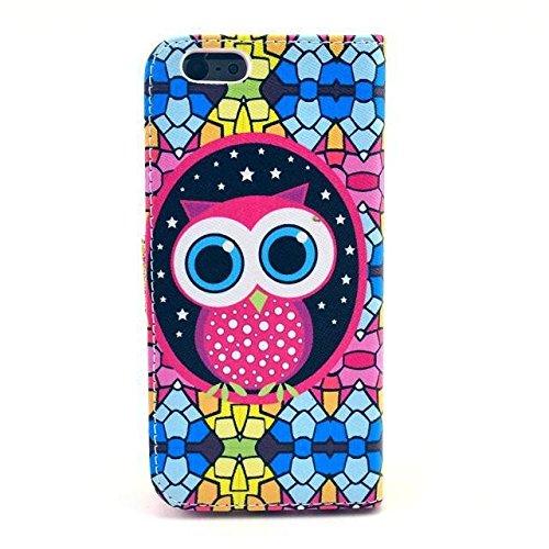 """Monkey Cases® iPhone 64,7""""- Étui à rabat-Chouette-Cover-Premium-Original-Nouveauté-# 2"""