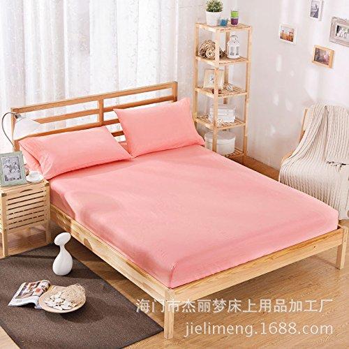 hllhpc Polyesterfolie Einzelbettbezug braun Polsterset Matratzenbezug Staubschutz 1.8 Jade Farbe 120x200x25