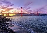 Pixblick - Golden Gate Bridge - Hochwertiges Wandbild - Material=Forex 100x70 cm