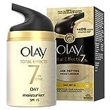 Olay - Total effects, 7 en 1 hidratante anti edad, factor de protección solar 15 - 50 ml