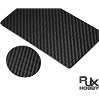 rjxhobby 200 mmx300 mm 3 K de fibra de carbono Placa Panel Hoja 1.5 mm de grosor (grano cruz, superficie mate)