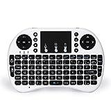 Ammiy® 2.4GHz Mini Multifunction Portable Wireless Keyboard (AZERTY) with Touchpad Mouse KODI XBMC Rechargable Keyboard Multi-media Handheld Android/Windows/Mac for PC Laptop, TV Box, Google TV Box, Xbox360, PS3 & HTPC/IPTV