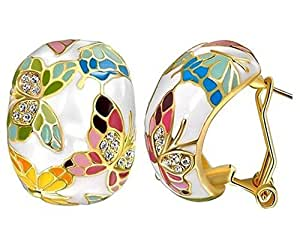 Crunchy Fashion White Brass Dangle and Drop Earrings for Women