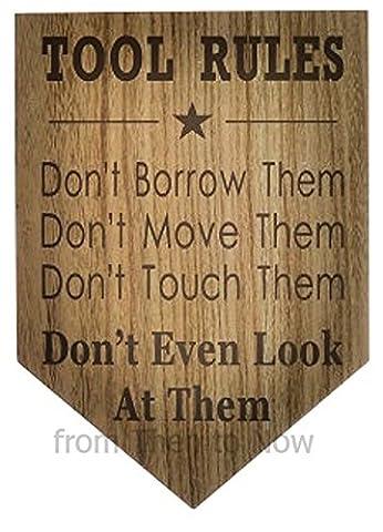 Plaque humoristique en bois