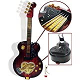 Children Kids Musical Guitar Showpiece With Dancing Girl & Music Figurine Statue Musical Guitar Instrument Gift Toy Music Box With Dancing Doll Case Stand For Home Decoration Guitar Showpiece Toy 11 X 4.5 Inch Guitar