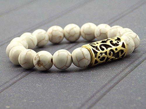miss-chichi-schicke-armband-weiss-turkis-mit-gold-plattiert-rekonstituiert-perlen-zentral