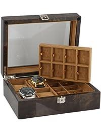 16PAR DE Gemelos y 4piezas Reloj Caja para coleccionar en luz madera by Aevitas