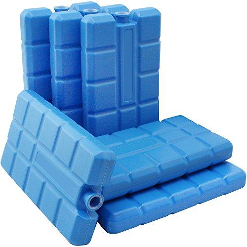 com-four® 6er Pack Kühlakkus, je 200 ml, blau - für die Kühltasche (06 Stück - 200ml blau)