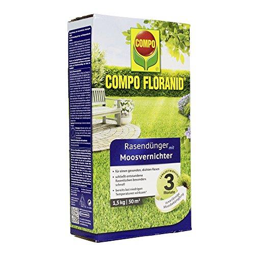 Compo 13426 Floranid Rasendünger mit Moosvernichter 12 kg für 400 m2