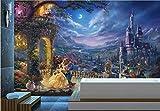 HDOUBR Personnalisé Papier Peint de Mode européen rétro Fantaisie château de Dessin animé Papier Peint Princesse Fond papiers Peints décor à la Maison, 250x175 cm (98.4 by 68.9 in)