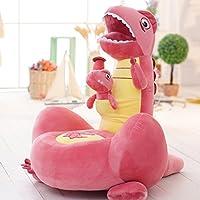 Preisvergleich für maxyoyo weicher Samt Cartoon Mutter und Baby Dinosaurier/Känguru waschbar Kid Sitzsack Sofa Stuhl Plüsch, Mutter und Kind Dinosaurier/Känguru Plüsch Spielzeug Sofa für Jungen und Mädchen Rosa, Dinosaurier